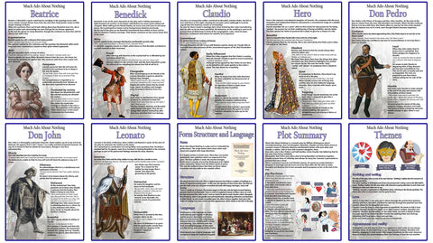 Copy of GCSE English - Much Ado About Nothing - Educational Posters - Set of 10 - Size A3