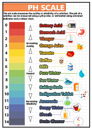GCSE Science pH Scale A2 Poster