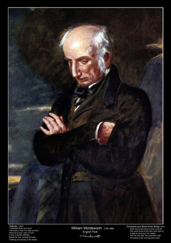 Famous Poet - William Wordsworth - Educational Poster - A3 Size