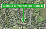 Your School Area - Aerial Photography - Poster. 50 x 50cm