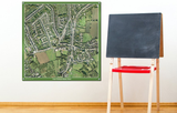 Your School Area - Aerial Photography - Poster 100 x 100cm