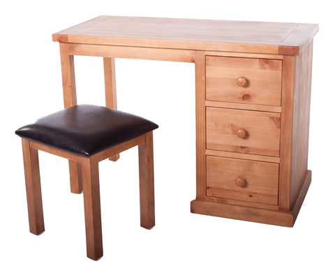 Shipston Dressing Table set with PU stool