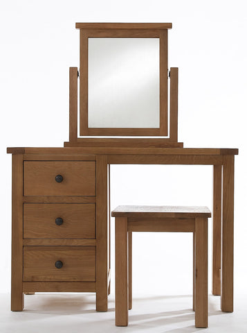 Byfield Dressing Table + wooden seat stool