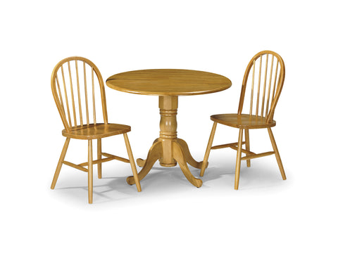 Dundee Table + 2 Windsor Chairs