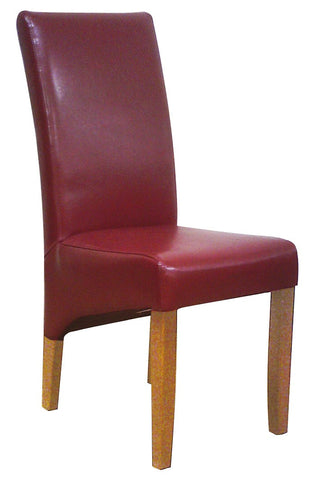 Uppingham Bonded Leather Chair - Bordeux Antique Leg