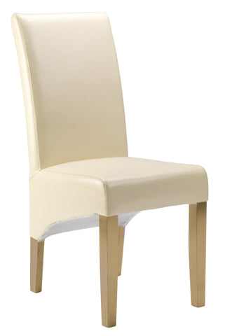 Uppingham Bonded Leather Chair - Cream Antique Leg