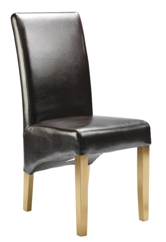 Uppingham Bonded Leather Chair - Brown Antique Leg
