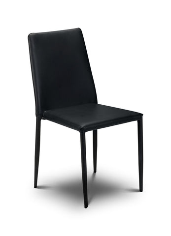 Jazz Stacking Chair - Black Faux Leather