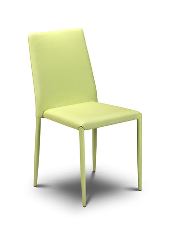 Jazz Stacking Chair - Green Faux Leather