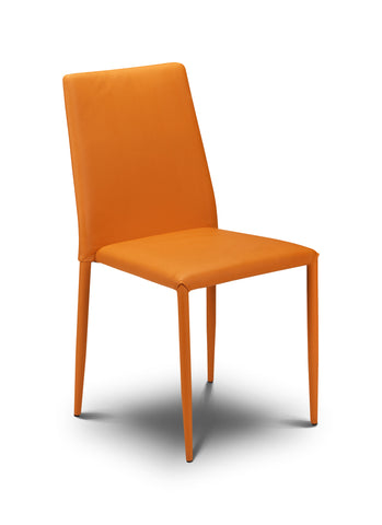 Jazz Stacking Chair - Orange Faux Leather