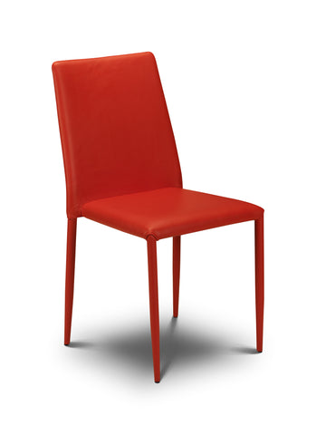 Jazz Stacking Chair - Red Faux Leather