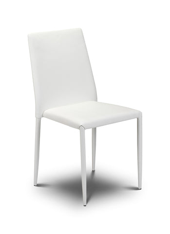 Jazz Stacking Chair - White Faux Leather