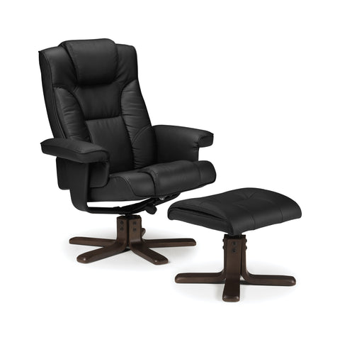 Malmo Swivel & Recline Chair - Black