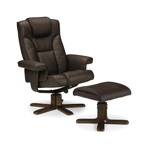 Malmo Swivel & Recline Chair - Brown