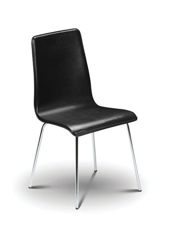 Mandy Chair Black Leather