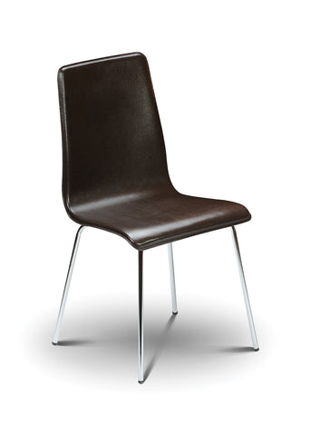 Mandy Chair - Brown Leather