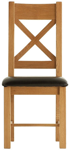 Oakmere Dining Cross Back Chair PU Seat