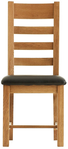 Oakmere Dining Ladder Back Chair PU Seat
