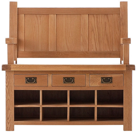 Oakmere Dining Monks Bench