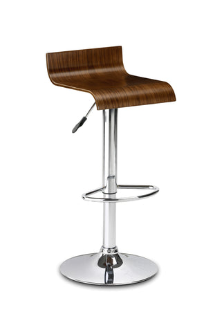 Stratos Bar Stool - Walnut Veneer
