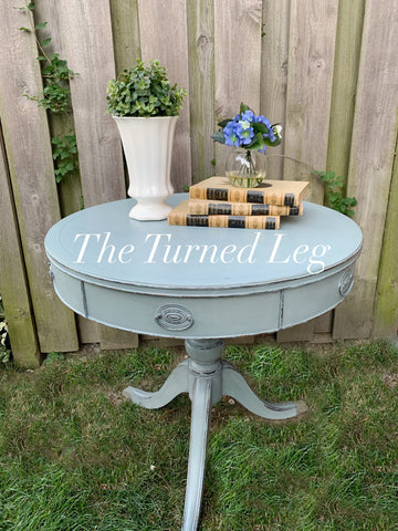 Hand-Painted Drum Table