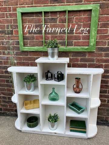 Hand-Painted White Bookcase