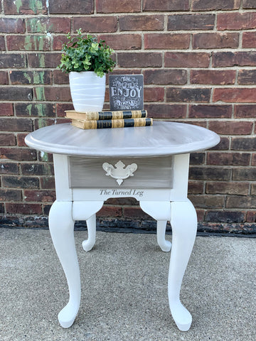 Hand-Painted End Table