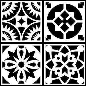 Spanish Tile 4 Pack JRV Stencils