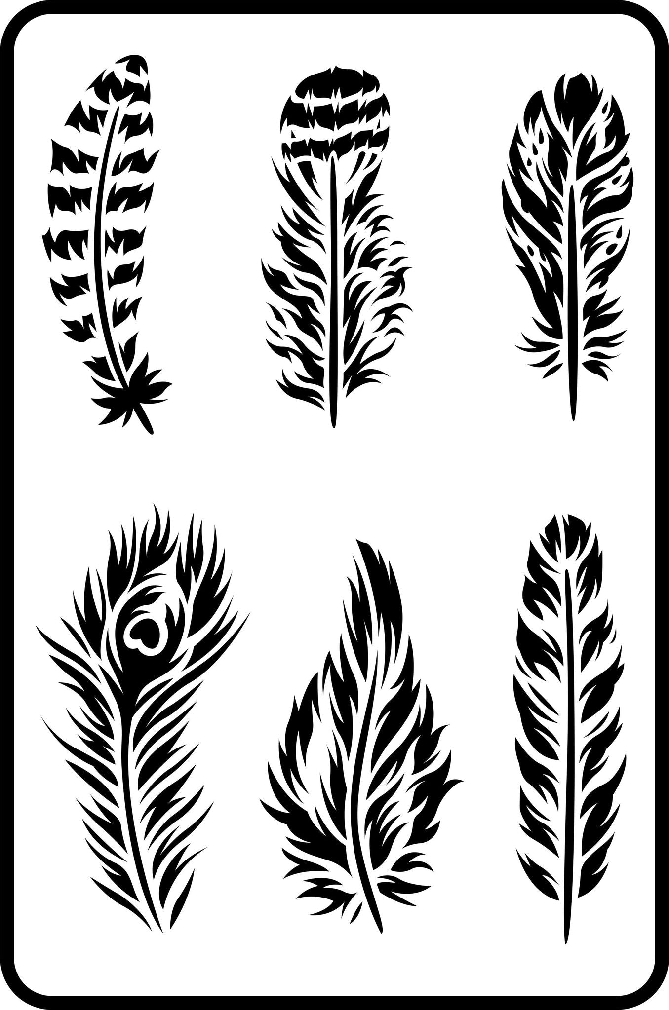 Feathers JRV Stencils
