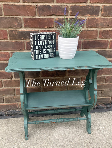 Hand-Painted Vintage End Table - Milk Paint