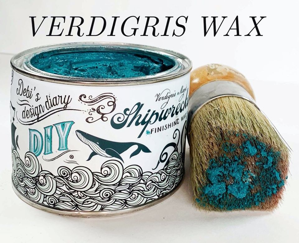 Shipwrecked Verdigris Patina Finishing Wax DIY Paint