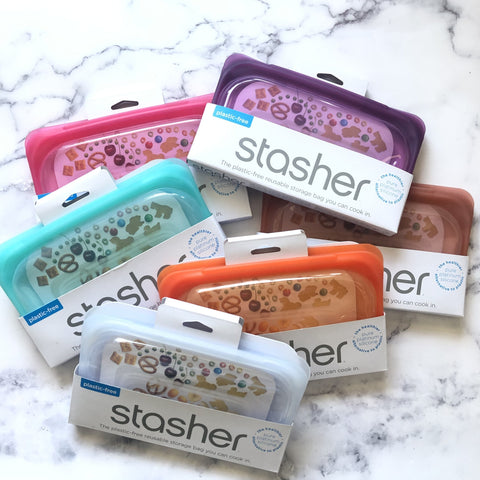 STASHER BAG ~ Snack Size (Multiple colors)