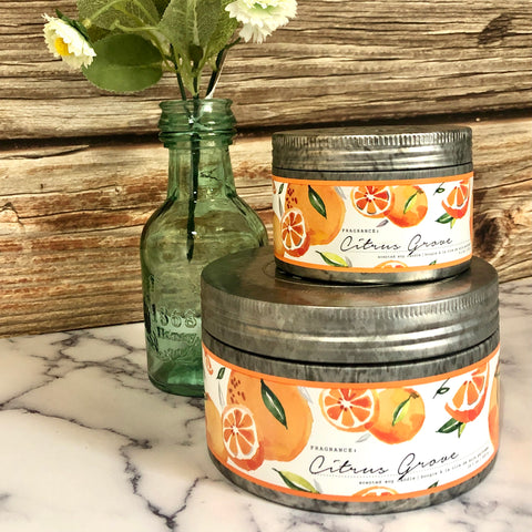 Citrus Grove Tin Candle