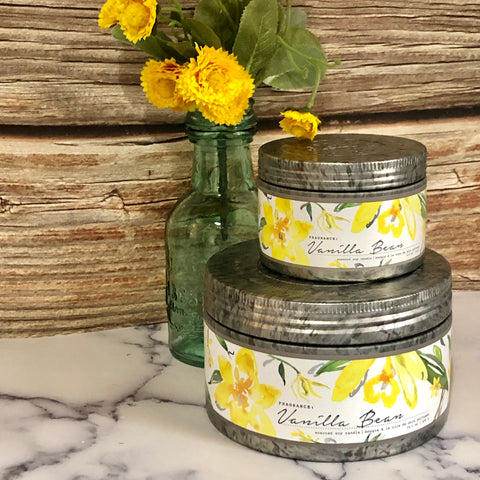 Sugar Blossom Tin Candle