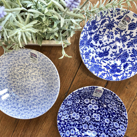 Assorted Burleigh Patterns in Blue Bowls Set/3