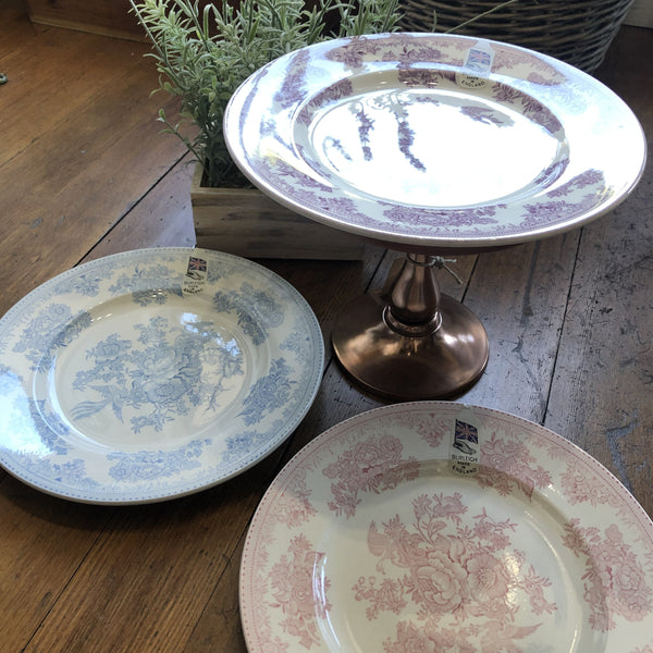 "Assorted Burleigh Entertaining Plates ""Asiatic Pheasants""  Set/3"