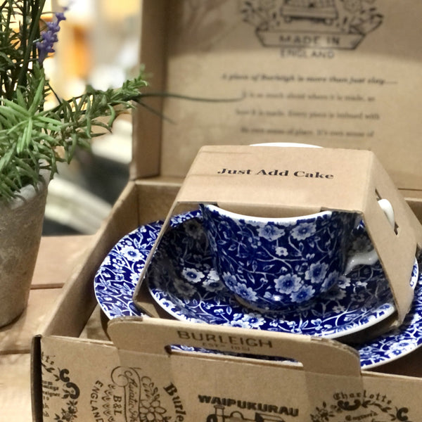 Burleigh Teacup Set ~ Blue Calico