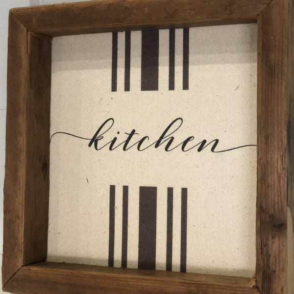 """KITCHEN"" Rustic Wall Decor"