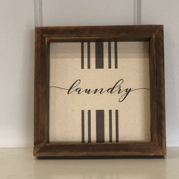 """LAUNDRY"" Rustic Wall Decor"