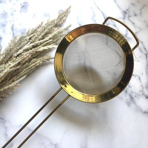 Gold Stainless Steel Strainer