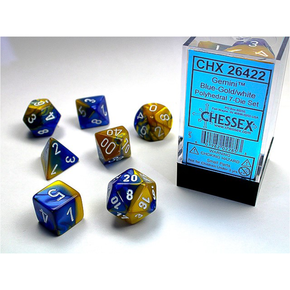 Gemini - Poly Set (x7) - Blue-Gold/White | Howayte Hobby Store
