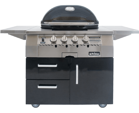 Primo All-In-One Oval G 420 Ceramic Gas Grill PGGXLC (Cart-Mounted)