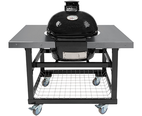 Primo All-In-One Oval JR 200 Ceramic Charcoal Grill PGCJRC