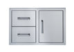 Broilmaster Single Door With Double Drawer, 34-In. BSAW3422SD