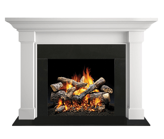 "Majestic Kenwood B 48"" Ebony Unfinished Maple Flush Wood Mantel AFKDAUB-E (W/O Base)"