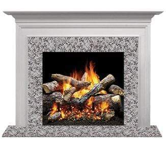 "Majestic Richland B 48"" Flush Wood Mantel AFRDMPB"