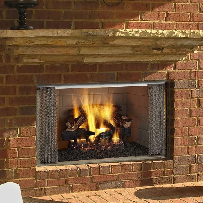"Majestic Villawood 42"" Outdoor Wood-Burning Fireplace w/ Traditional Refractory ODVILLA-42T"