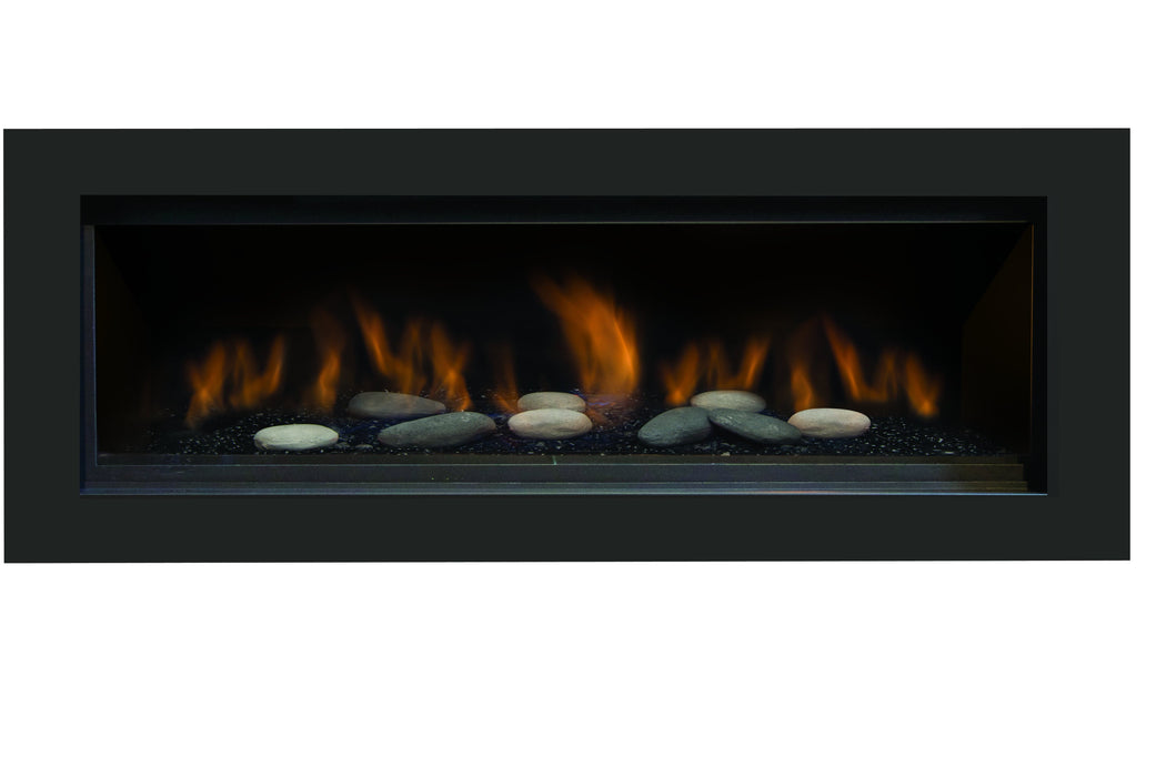 "Sierra Flame Austin 65"" Direct Vent Linear Natural Gas Fireplace AUSTIN-65G-NG-DELUXE"