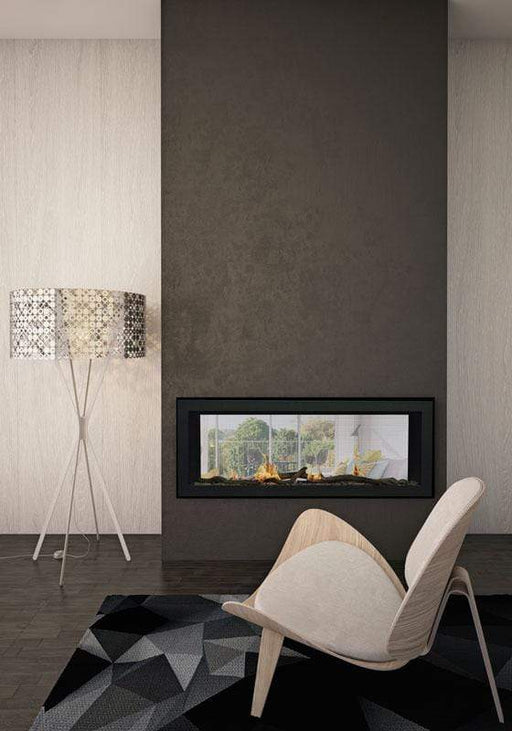 "Sierra Flame Emerson 48"" See-Thru Direct Vent Linear Gas Fireplace EMERSON-48-DELUXE"