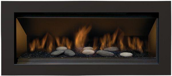 "Sierra Flame Stanford 55"" Direct Vent Linear Liquid Propane Gas Fireplace STANFORD-55G-LP-DELUXE"